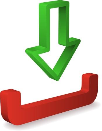 inbox icon: Vector inbox icon