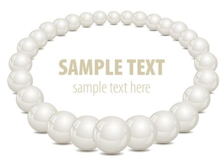 Backgruon vith pearls. Vector illustration.