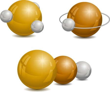 spherule: Abstract design wiht spheres. Vector illustration. Illustration