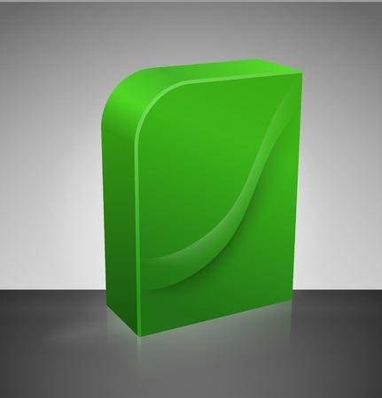 dvd box: Blank dvd box Illustration