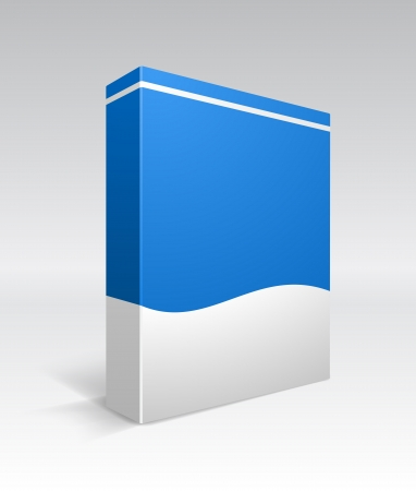 blue box: Blank dvd box  Illustration