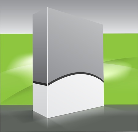 Blank dvd box on background. illustration.