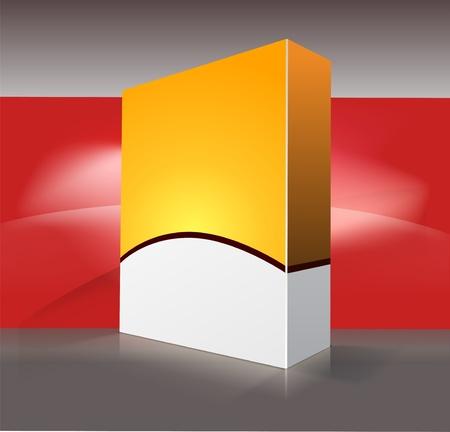 dvd box: Blank dvd box on background. illustration.