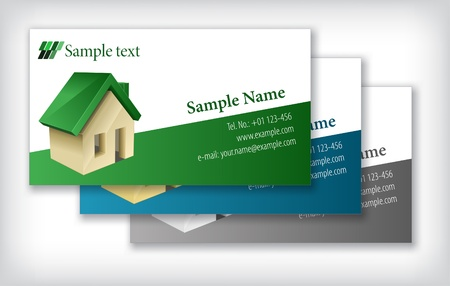 Business card template Stock Vector - 8987619