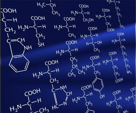 20 amino acids. A life basis. Stock Vector - 8987620
