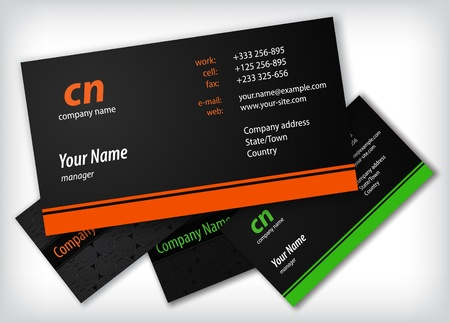 tarjeta de presentacion: Plantilla de tarjetas Vectores