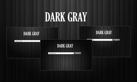 Dark web site template Stock Vector - 9250152