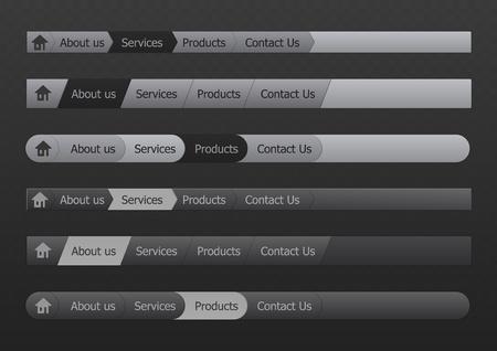 Vector menu in black and gray color Stock Vector - 9250149