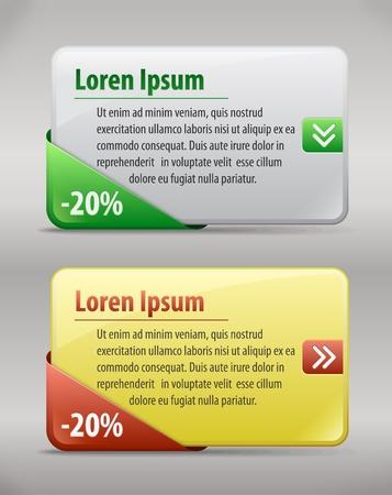 interface elements: Web box tempalte