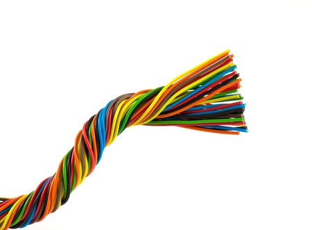 Color wires isolated on white background photo