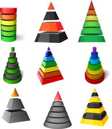 Set of pyramids Vector