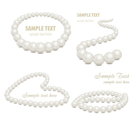 Set of pearl backgrounds Vector