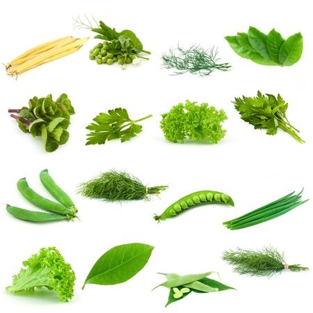 Set of green vegetables photo