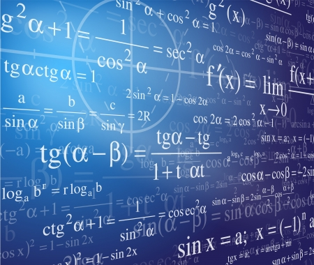 Mathematics background with formulas