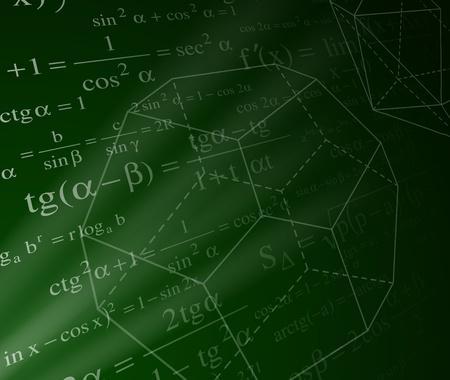 Arrière-plan de mathématiques avec formules Illustration