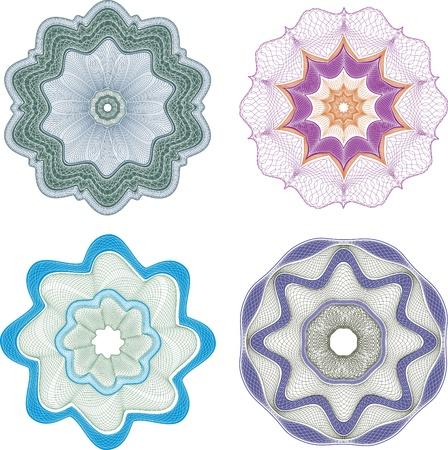 guilloche pattern: Guilloche elenent for certificate Illustration