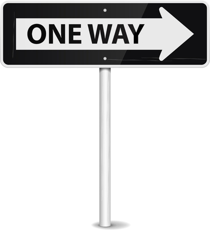 one way sign: One way arrow