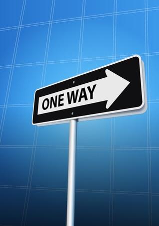 one way: One way arrow