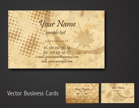 business card set Stock Vector - 10543809
