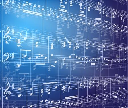 音楽のノートの背景  イラスト・ベクター素材