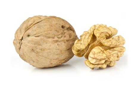 Walnut isolaten on a white background photo
