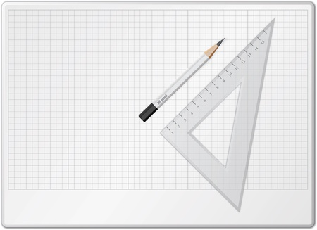 Board for drawing with pencil and triangle Stock Vector - 11376320