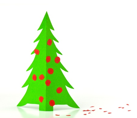 Christmas tree made ​​out of paper Stock Photo - 11376307