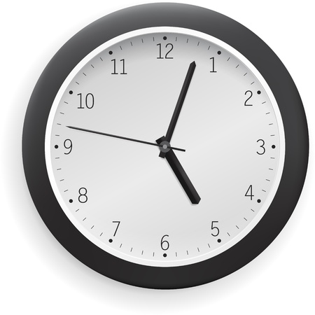 hour hand: White vector clock.