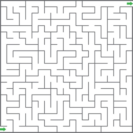 laberinto: Ilustraci�n vectorial de laberinto