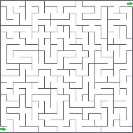 Vector illustration of maze