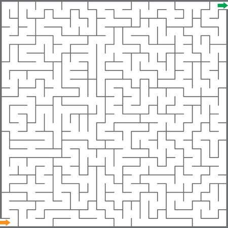 maze puzzle: Vector illustration of maze