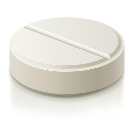White medical pills illustration.