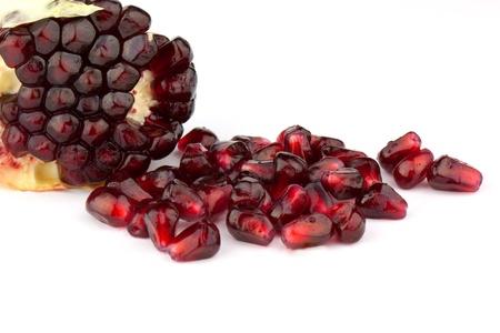 grenadine: Pomegranate isolated on white background
