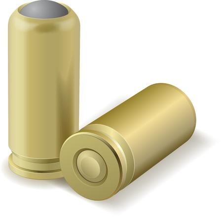 ammunition: Vector illustration of pair bullets