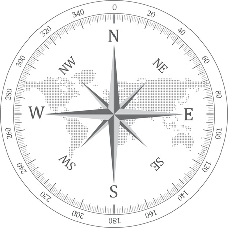 Black compass vector illustration