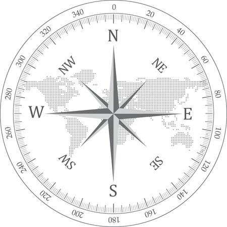 Zwarte kompas vector illustratie Stock Illustratie