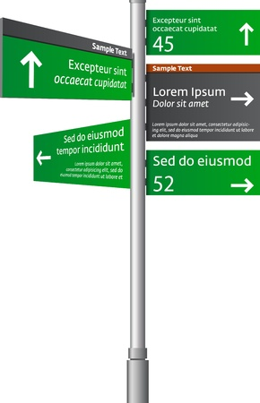 Road signs with arrows  Illustration