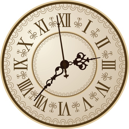 Antique clock  Vector illustration