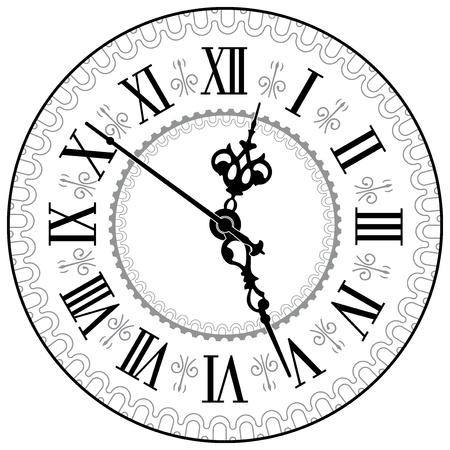 roman: Reloj antiguo ilustración vectorial