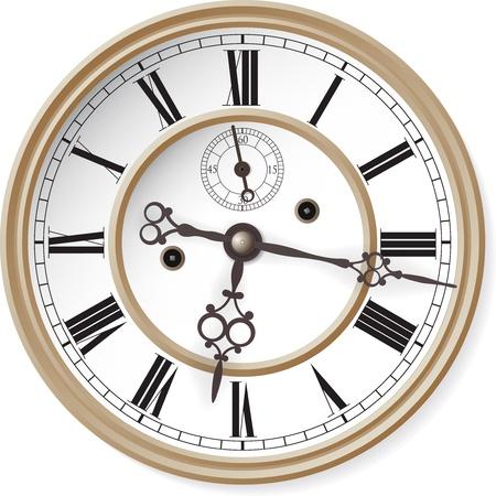 Reloj antiguo ilustración vectorial