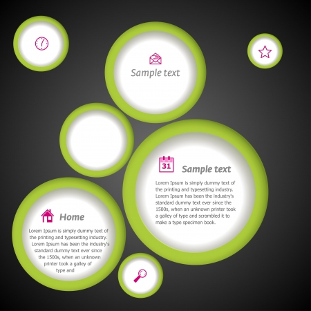 Simple template with circles  Vector