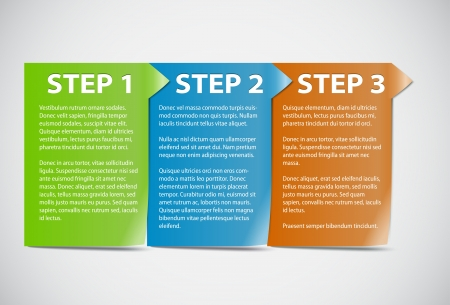instruction: Cards with steps