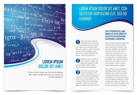 učebnice: Vector broshure stránky šablona