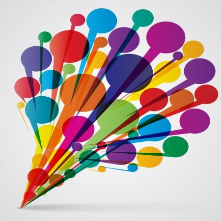 thinking bubble: Speech bubbles Illustration