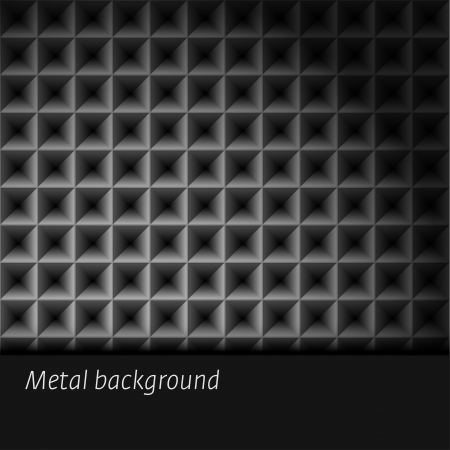 Dark metal background  illustration  Vector