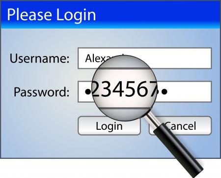 lösenord: Inloggnings med lösenordet hackad