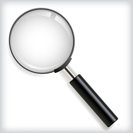 optical glass: illustration of magnifying glass