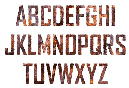 rusted: Rusted big letters Illustration