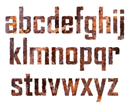 rusted: Rusted letras peque�as