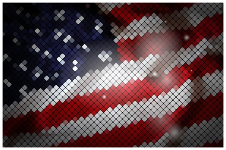 USA flag made of tiles  Vector illustration  Vector